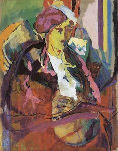 huariqueje:  Vanessa Bell Writing - Ducan Grant 1916