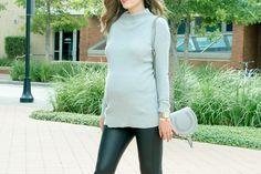 Tunic Sweater  Leather Leggings