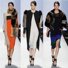 BCBG Max Azria Fall 2012 Fashion Show -Fur #patchwork