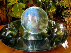 Allison Armour's now famous Aqualens Sphere Water Fountain is the perfect addition to your garden or outdoor space. View gardens with water features here.