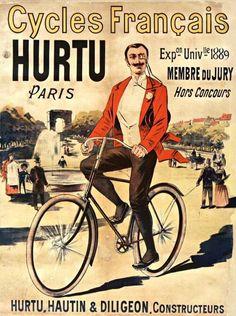 Vintage ad bike in Paris
