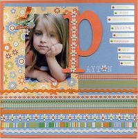 1 photo   two peas in a bucket scrapbook page layout