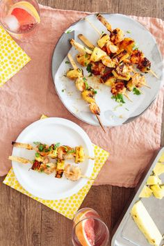 Save the recipe! Pineapple Glaze, Shrimp Skewers, Best Dishes, Recipe Of The Day, Seafood, Curry, Tasty, Stuffed Peppers, Ethnic Recipes