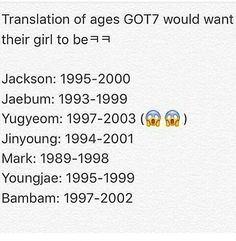 Yes. Old enough to date Jaebum Oppa!