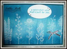 Debbie Rolls # Flowering Fields 1 # click on the image to see more of Debs Cards # hand made cards # Debs Creations
