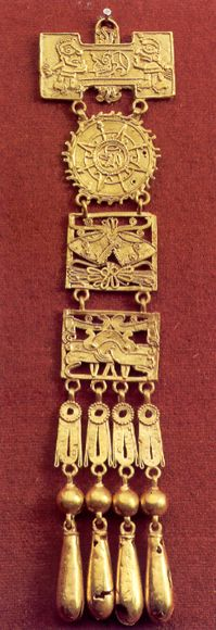 Mixtec Gold Artifacts  Mexico