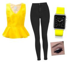 """""""Yellow beauty"""" by kikiflawless ❤ liked on Polyvore featuring beauty, Ingie Paris, Topshop and Casetify"""