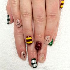 Pin for Later: 18 Harry Potter Nail Art Designs That Will Cast a Spell on You Death Eater Digit
