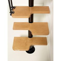 Arke, 22 in. Black Modular Staircase Kit, at The Home Depot - Tablet Modular Staircase, Spiral Staircase Kits, Staircase Design, Spiral Staircases, Space Saving Staircase, Straight Line Designs, Building A Tiny House, Bedroom Closet Design, A Frame Cabin