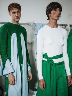 Backstage at Craig Green Fashion 2017, Fashion Show, Fashion Design, Color Combinations For Clothes, Craig Green, Theatre Costumes, Fashion Couple, Rock, Fashion Pictures