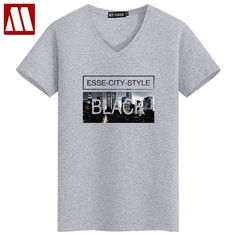 9a4a70c4153 Fashion Black City Printed Cotton t shirt Men Summer Short Sleeve tshirts  Casual T-Shirts Hip Hop Style t shirts Plus Size S~5XL
