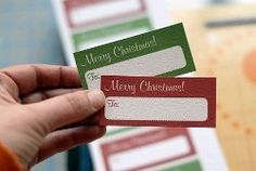 Printable Gift Tags | AllFreeChristmasCrafts.com