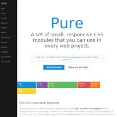 Yahoo! Pure is a really cool CSS framework similar to Bootstrap.
