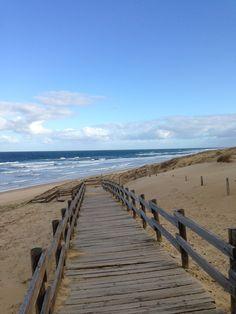 Chemin vers la plage de Messanges #landes #messanges #plage #bois #littoral #beach #waves