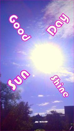 Good Day ☼🌞 Sunday Sunshine  ☼ Sunday, July 3, 2016 Good Day, Sunshine, Sunday, Neon Signs, Buen Dia, Good Morning, Domingo, Hapy Day, Nikko