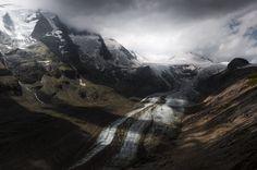 Ice River. Grossglockner, Austria. #Austria #Europe #Grossglockner #fineartphotography #fineart #Glacier #GrossglocknerHighAlpineRoad #Ice #IceRiver #LandscapePhotography #HoheTauern #Landscape #marcoromaniphotography #MarcoRomani #Majestic #MountainTop #outdoorphotography #Mountains #Pasterze #Travel #Snow #Valley #Nikon #Feisol #Nikkor #NikonD700 #dramatic #dramaticsky