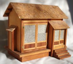 Custom Made Japanese Doll House Made from the plans in Rumer Godden's book 'Miss Happiness and Miss Flower'