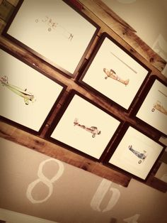 Boy's Aviation Nursery Gallery Wall Art