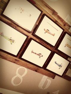 Boy's Aviation Nursery Gallery Wall Art