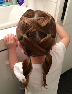 Frisuren how to style baby girl hair - Hair Style Girl Girls Hairdos, Baby Girl Hairstyles, Ponytail Hairstyles, Pretty Hairstyles, Hair Girls, Little Girl Hairdos, Children Hairstyles, Female Hairstyles, Simple Girls Hairstyles