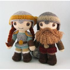 Dwarves are short and tough, and often experts in mining and metalwork. This toughness often makes them good at fighting, using weapons such as axes and war hammers. They generally wear practical clothes, and have large, impressive beards. This sometimes includes female dwarves, and though mine are bare-faced, there's no reason you can't make beards for them too.I have made a selection of three male and two female dwarves with different clothes and hairstyles, so you can decide exactly what ...