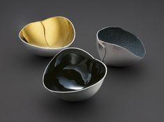 Elizabeth Auriol Peers - Pierce Pinch Bowls  Salt/Pepper/Spice, Britannia Silver Gilt / Enamelled   http://elizabethauriolpeers.com/    Photography by Simon B. Armitt