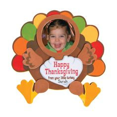 Before you gobble up that Thanksgiving dinner, entertain the little ones with some crafts for kids! This magnet picture frame is a cute way to wish friends . Thanksgiving Turkey Pictures, Thanksgiving Crafts For Toddlers, Thanksgiving Art, Thanksgiving Crafts For Kids, Turkey Crafts Preschool, Daycare Crafts, Classroom Crafts, Daycare Ideas, Thanksgiving Decorations