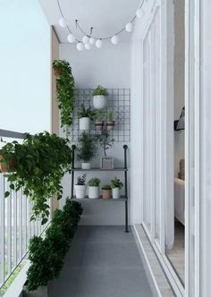 66 cozy apartment balcony decorating ideas for your new home 2019 page 15 Wel Small Balcony Design, Small Balcony Garden, Small Balcony Decor, Small Terrace, Small Apartment Design, Balcony Plants, Outdoor Balcony, Small Apartments, Balcony Railing