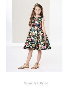 c6f8c38c2bfc  OscardelaRenta Flower Jungle Mikado Pleated  Dress  LittleGirlFashion   KidsFashion  Style  ShopStyleCollective