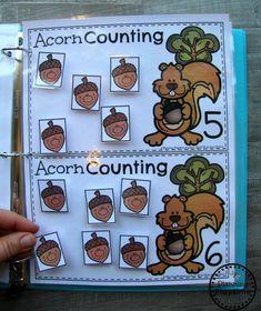 Fun Fall Counting Activities for Kids Fall Preschool Activities, Counting Activities, Preschool Lesson Plans, Preschool Songs, Activities For Autistic Children, Math Binder, Preschool Binder, Tree Study, Autumn Theme