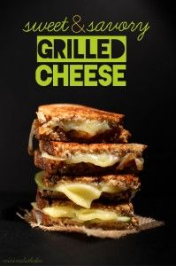 Sweet and Savoury Grilled Cheese Sandwiches - caramelized onion and apple