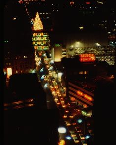 Awesome view of the Rich's Christmas tree in Atlanta in 1963.