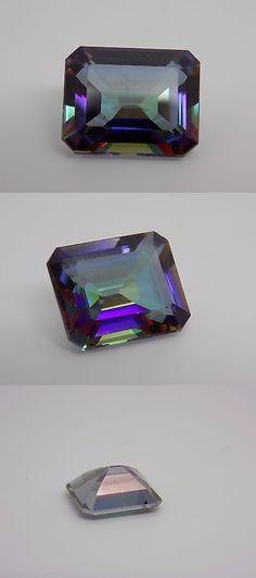 Topaz 10270: 4.8 Ct Emerald Cut Mystic Topaz Loose Gemstone Eye Clean 11X9mm - New 717 -> BUY IT NOW ONLY: $39 on eBay!