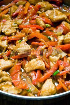 Kurczak pięciu smaków Healthy Dishes, Healthy Recipes, Asian Recipes, Ethnic Recipes, Easy Food To Make, Great Recipes, Food Porn, Good Food, Food And Drink