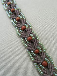 Tree of Life Macrame Hemp Necklace with Redwood and Glass