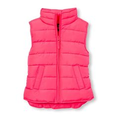 Girls Solid Puffer Vest