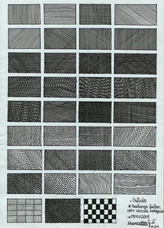 Line Pattern Pencil Drawing 23 - Art Shading Techniques, Art Techniques, Drawing Tips, Line Drawing, Drawing Ideas, Texture Drawing, Pencil Texture, Pattern Sketch, Ink Pen Drawings