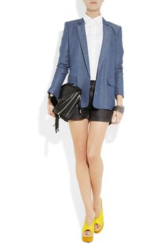 Acne chambray blazer. I want it, I need it!
