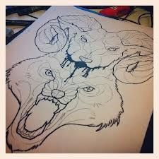 This is for my left thigh #wolf #tattoo