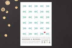 Only Fish for Me Wedding Invitations by Ling at minted.com