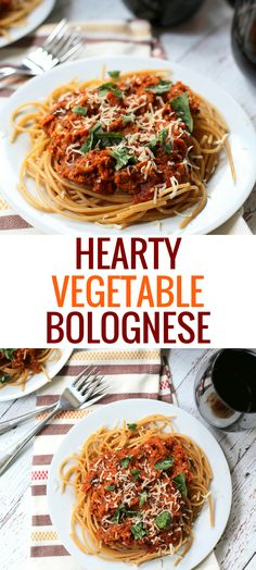 This Hearty Vegetable Bolognese is a deliciously filling vegetarian recipe that comes together quickly. A healthy sauce the whole family will love. Pasta Recipes, Real Food Recipes, Vegetarian Recipes, Dinner Recipes, Dinner Ideas, Ramen Recipes, Freezer Recipes, Quick Recipes, Delicious Recipes