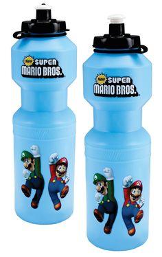 Super Mario Bros. Water Bottle from BirthdayExpress.com