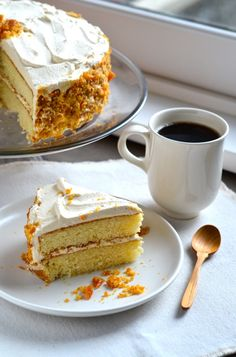 blissful eats with Tina Jeffers: caramel whipped cream cake