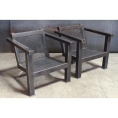 PERFORATED STEEL FRAME CHAIRS