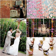 Paper Crane Wedding- Paper Cranes in a wedding symbolize love, longevity and two other things...