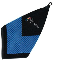 """The Greenside Mini.  The """"Mini"""" is an 8 x 8 inch square cotton towel with a retractor or carabineer attachment. Choose from a custom PVC patch or your embroidered logo. For more information please contact GWN at mailto:info@gwnpromo.com Pvc Patches, Embroidered Towels, Cotton Towels, Golf, Mini, Wave, Polo Neck"""