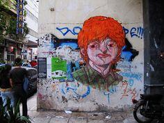 Оригинальные граффити в Афинах