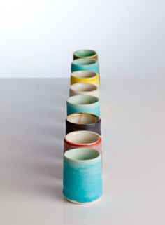 COLOURED SHOT LINE www.garywoodceramics.co.uk