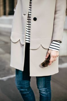 Invest in a coat this season as it's a piece you'll wear over and over. While fit and versatility is important, make sure to find details you love (& won't get tried of)!