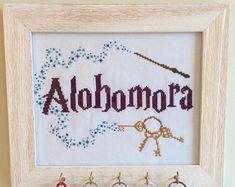 PDF Alohomora Harry Potter Cross Stitch Pattern by CarlyDoodles